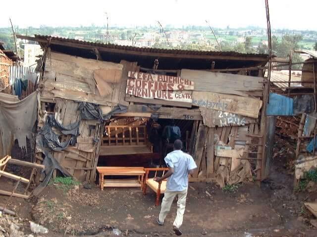 Магазин в трущобах Кибера, Найроби
