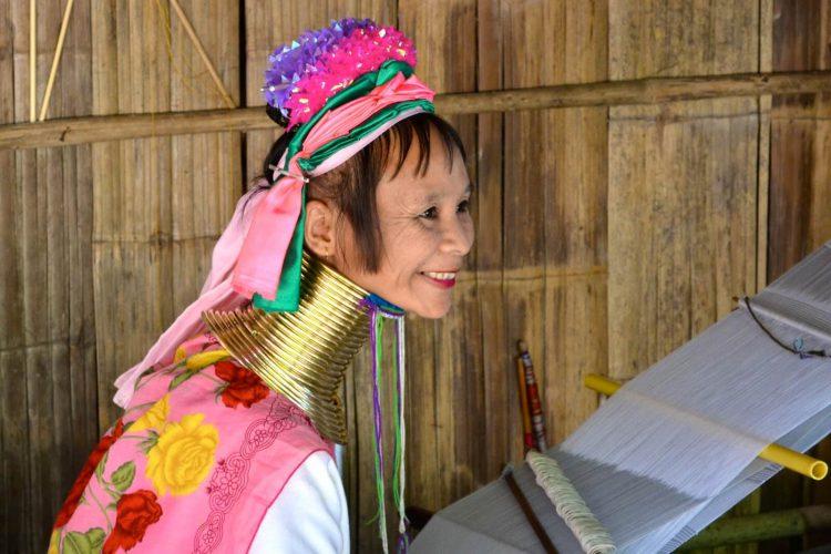 A Padaung tribe woman