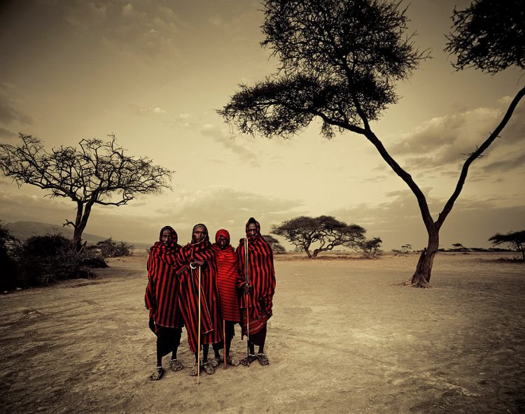 The Maasai tribe in an early morning