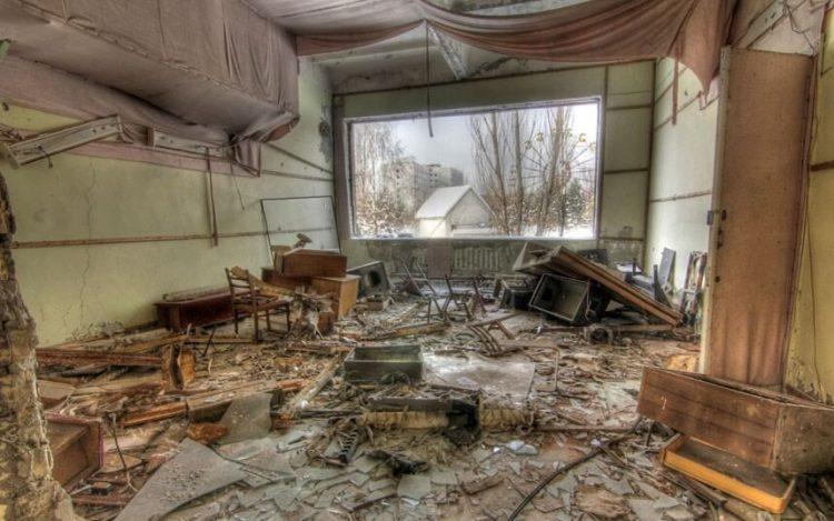 Покинутая комната в Припять, Украина
