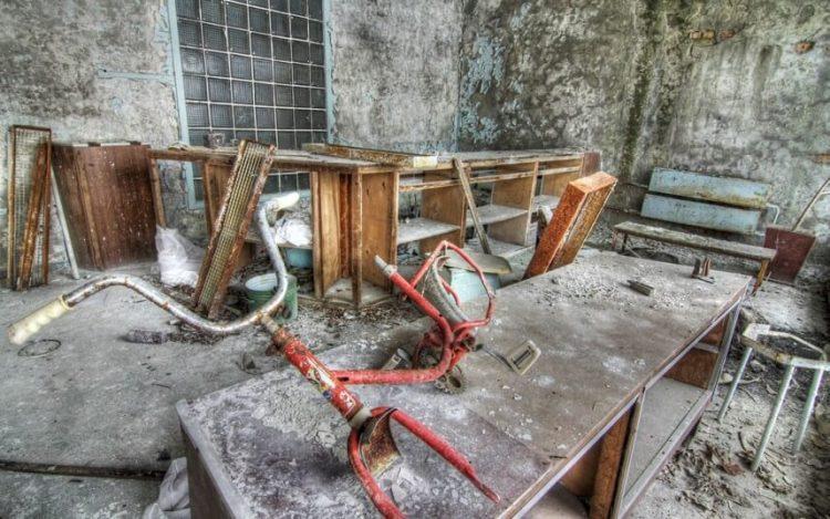 Брошенные вещи в Припяти, Украина