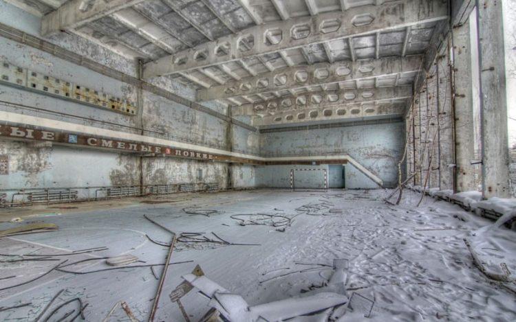Заброшенный спортзал, Припять, Украина