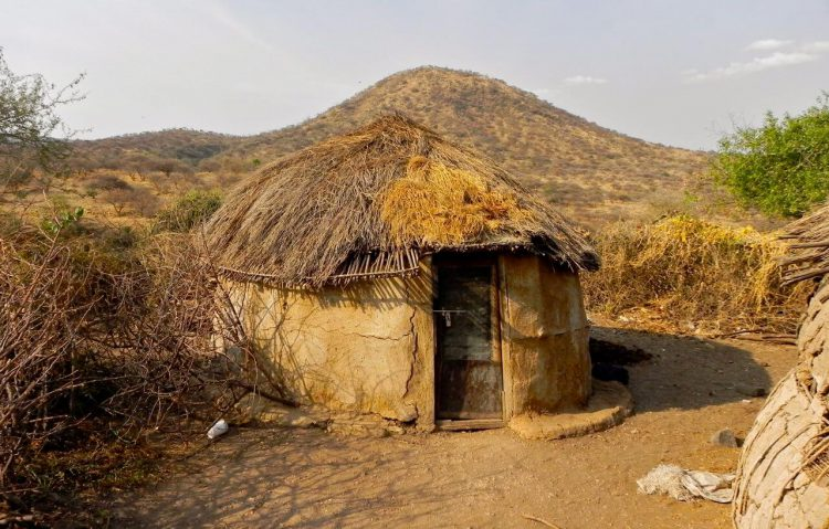 Жилище племени Масаи