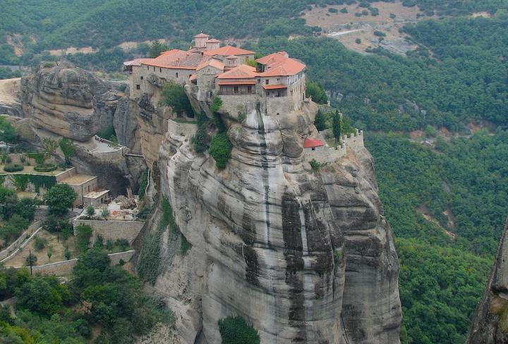 Греческие монастыри Метеоры. Фото