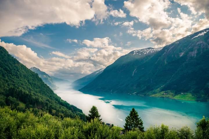 Залив Согне, норвежские фьорды