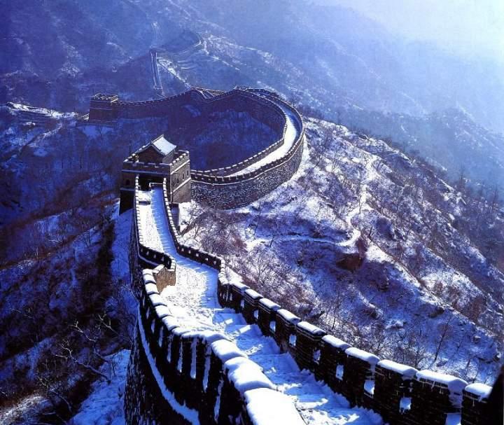 Китайская стена в зимнее время