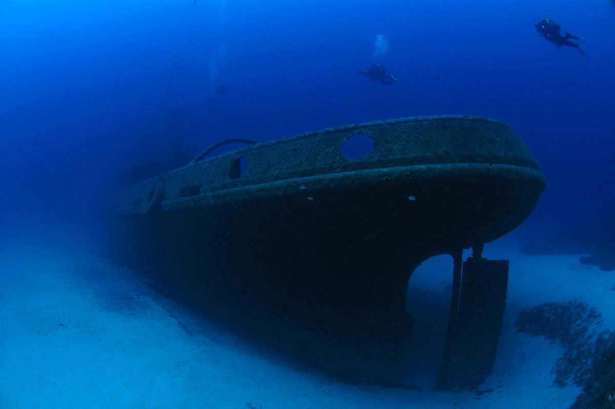 Затонувший корабль P29