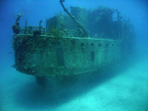 """Затонувший корабль """"Принц Альберт"""" в Гондурасе"""