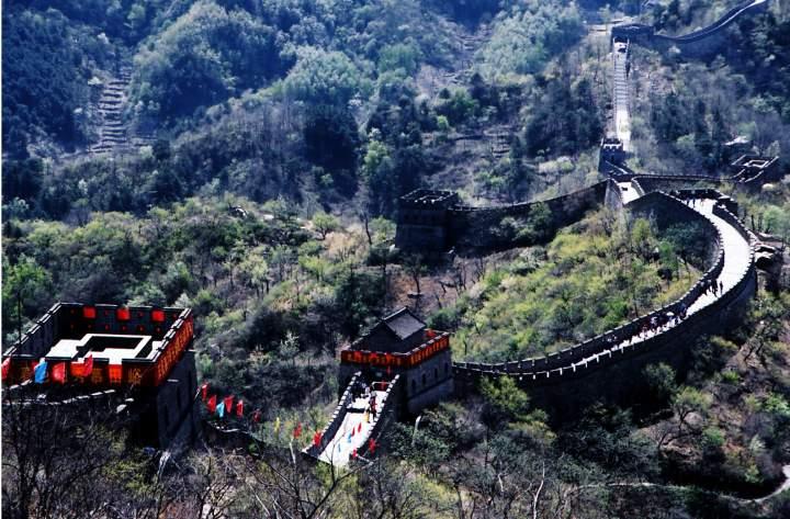 Туристы на Великой китайской стене