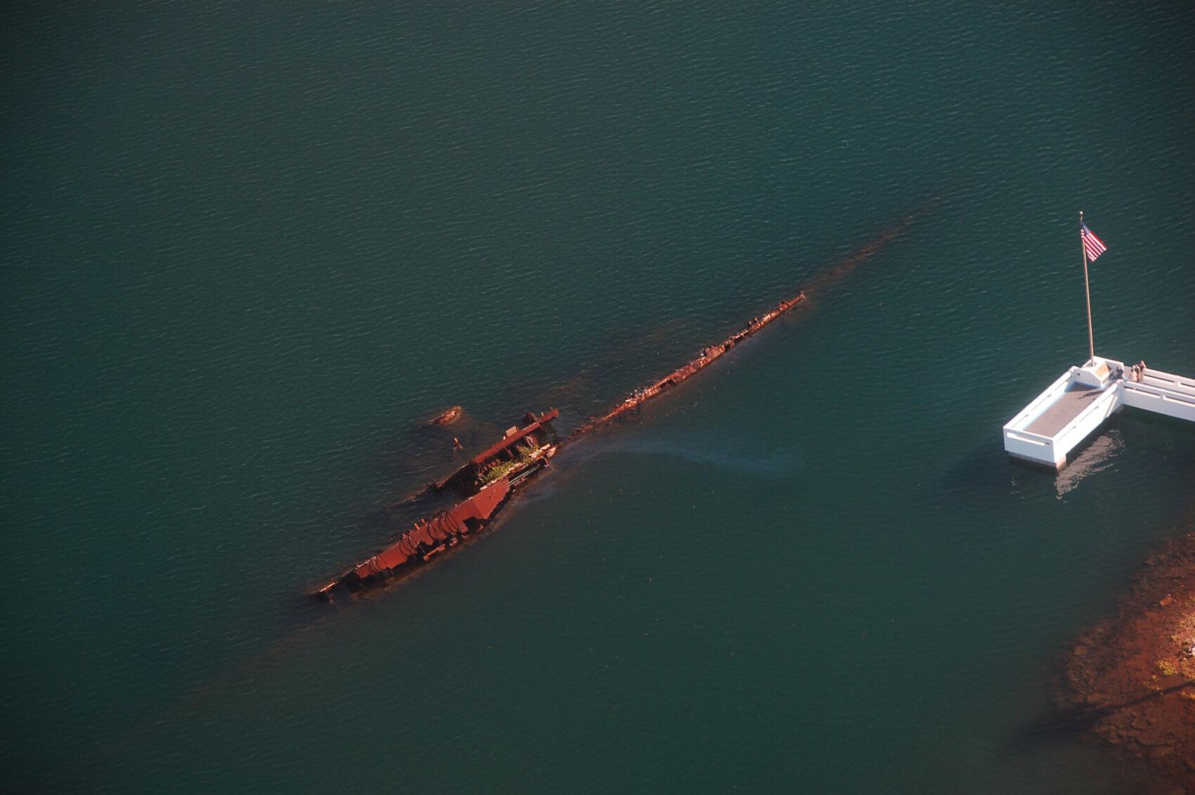 """Затонувший военный корабль """"Юта"""""""