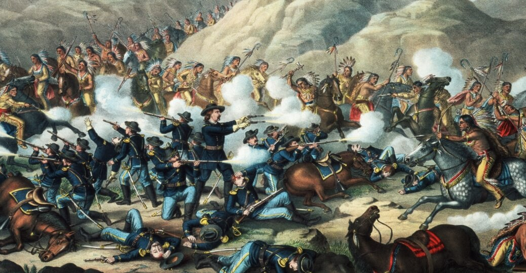 Битва индейцев с европейцами
