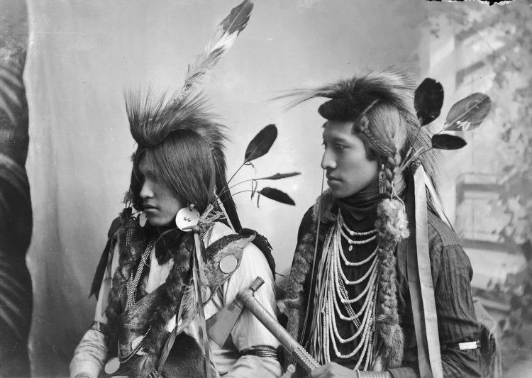 Типичные индейцы в Северной Америке