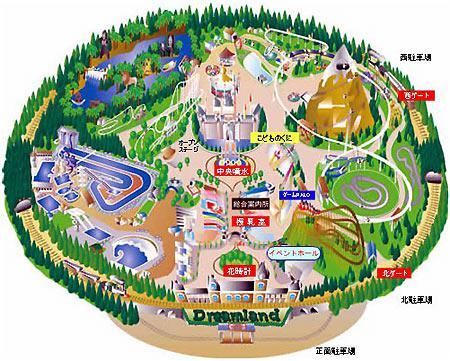 """План заброшенного парка аттракционов """"Nara Dreamland"""". Фото"""