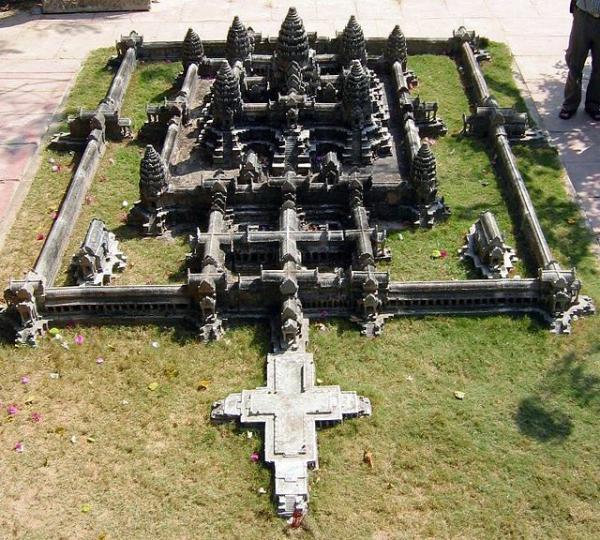 Макет храма Ангкор-Ват