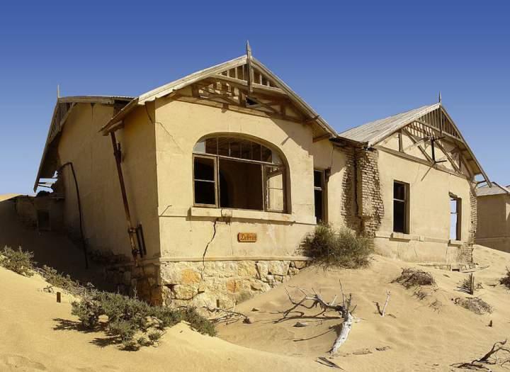 Разрушенные дома Колманскопа, Намибия
