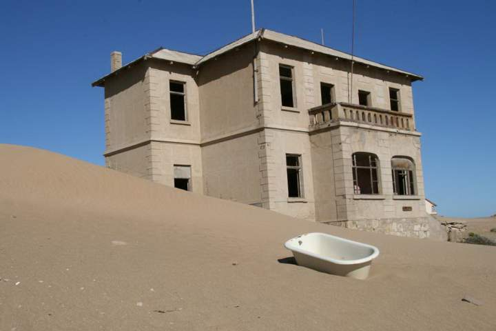 Прочное здание в Колманскопе, Намибия