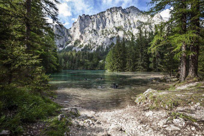 Горы возле Зеленого озера, Австрия