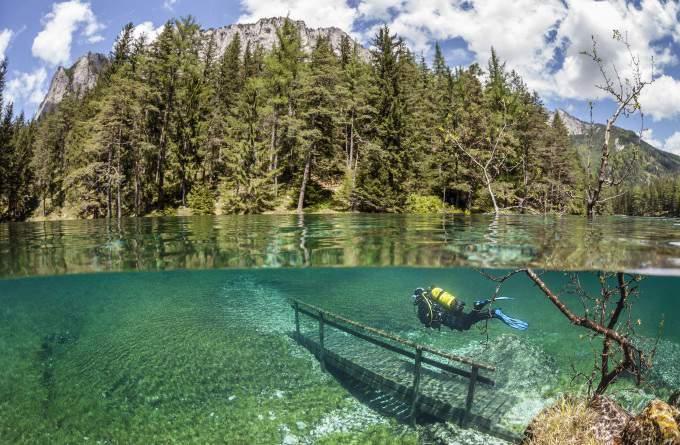 Зеленое озеро, Австрия. Фото