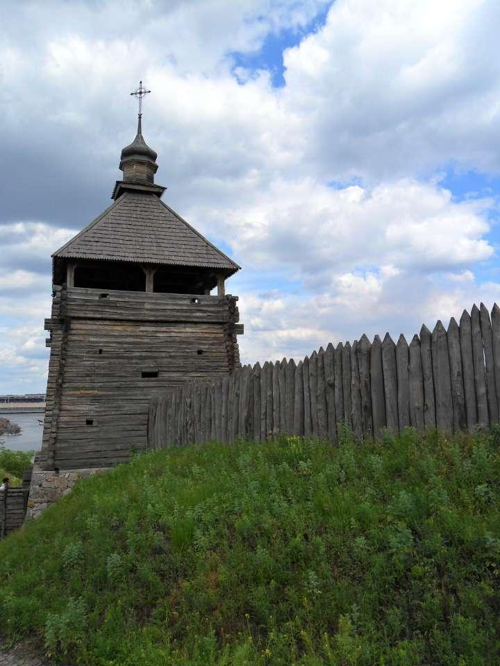 Частокол вокруг Запорожской Сечи, ограждение, ограда фото