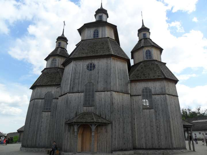 Деревянная церковь в Запорожской Сечи, Хортица