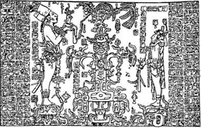 Крест на рисунках Майя