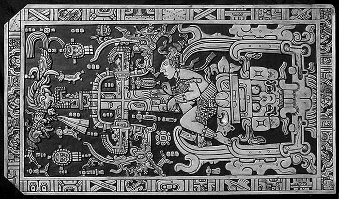 Крышка саркофага племени Майя