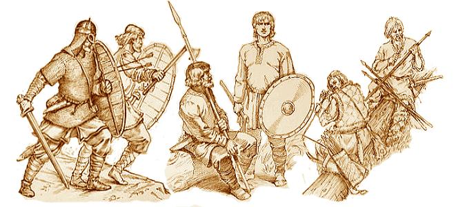 Древние славянские воины
