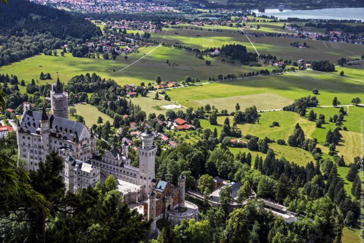 Окрестности замка Нойшванштайн, Бавария, Германия