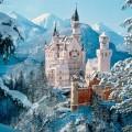 Замок Нойшванштайн зимой
