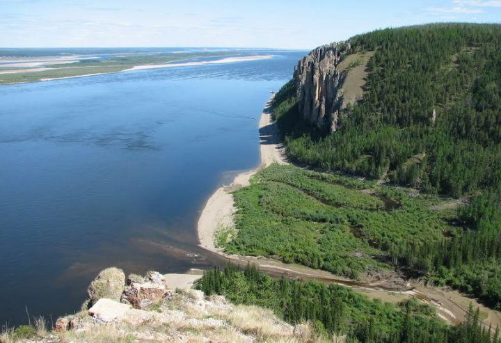 Ленские столбы. Вид на реку Лена