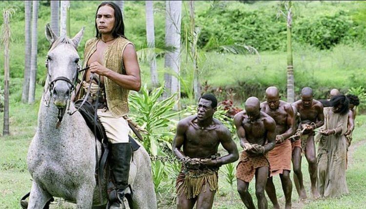 Индеец рабовладелец в США