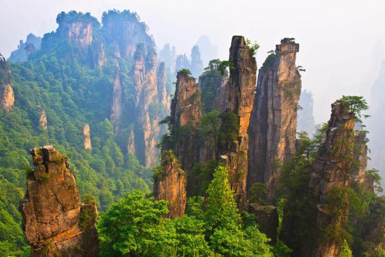 Горы тяньцзи или горы из аватара