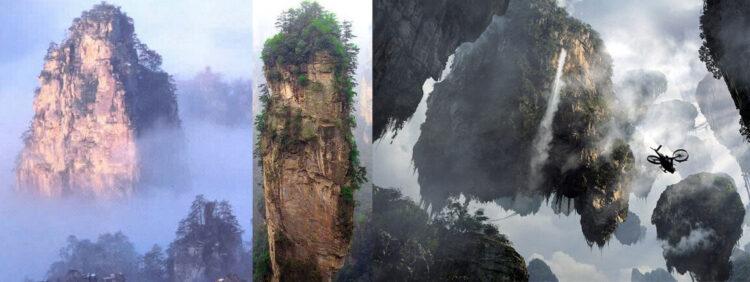 Сравнение Горы тяньцзи и гор из аватара