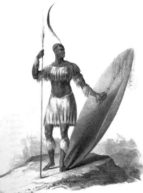 Единственный известный эскиз Чаки, сделанный в 1824 году.