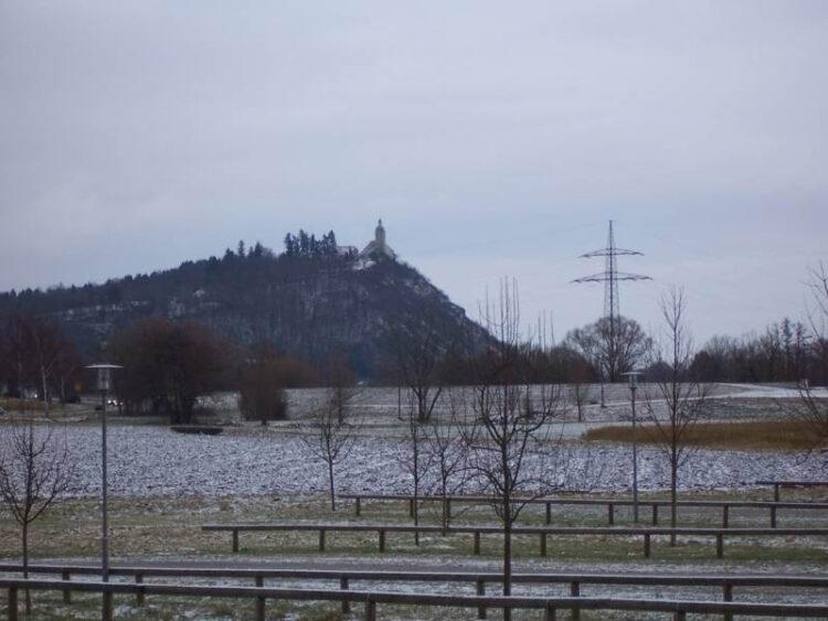 Гора Богенберг (Bogenberg) зимой