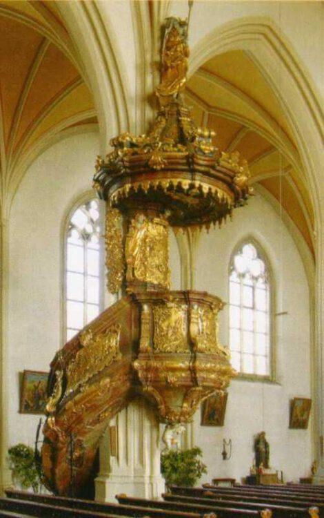 "Гора Bogenberg- Церковь ""Sankt Maria Himmelfahrt"". Кафедра"