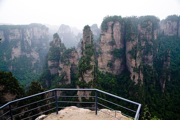 Обычная смотровая площадка горы тяньцзи
