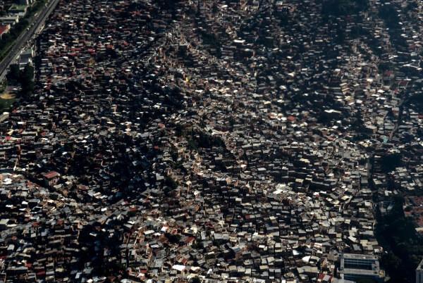 Общий вид на трущобы южной Америки