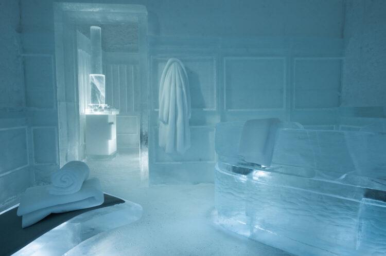 Ледяная сауна в Ледяном отеле