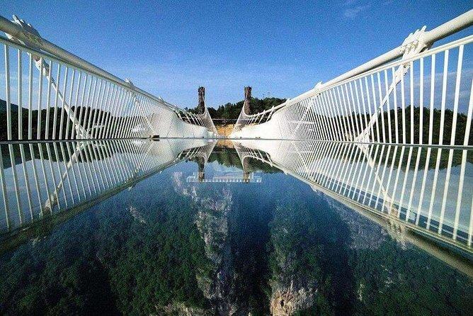 Знаменитый Стеклянный мост в горах тяньцзи