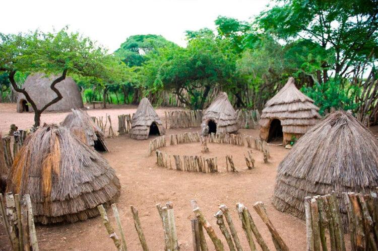 Типичный пример зулусского поселения