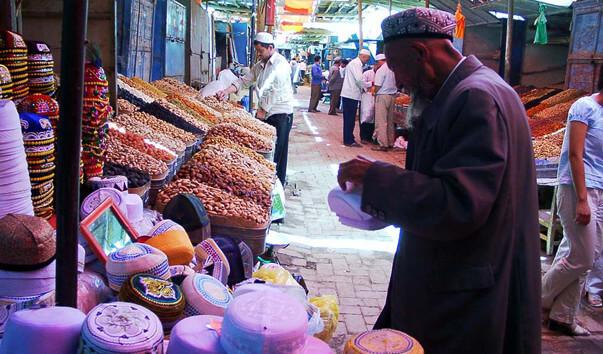 Воскресный базар в Кашгаре