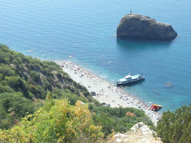 Благоустроенные пляжи на территории мыса Фиолент