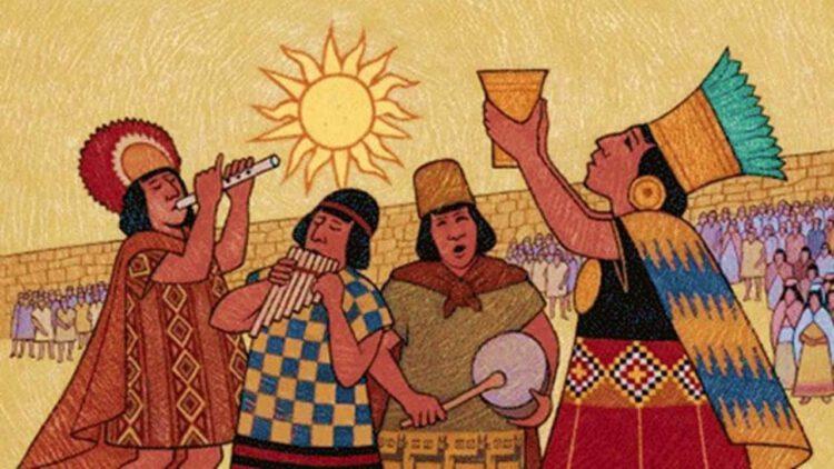 Иллюстрация представители племени инков