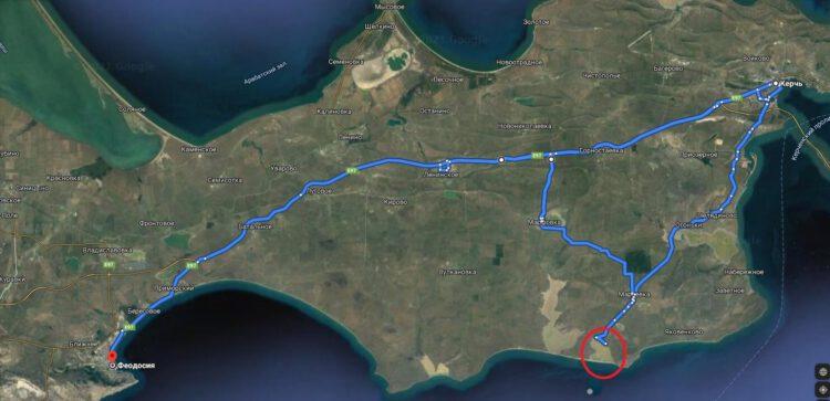кояшское розовое озеро в крыму как добраться карта