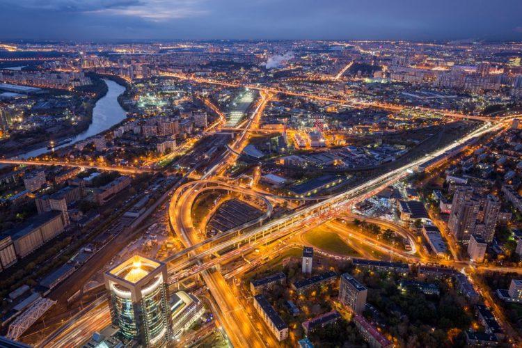 Москва - вид сверху