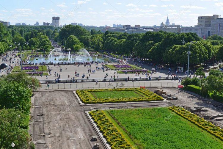 Парк Горького. Вид сверху
