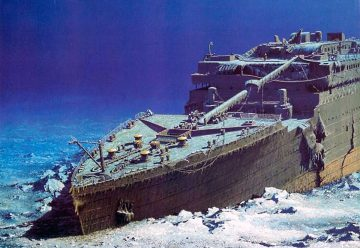 Титаник на дне океана
