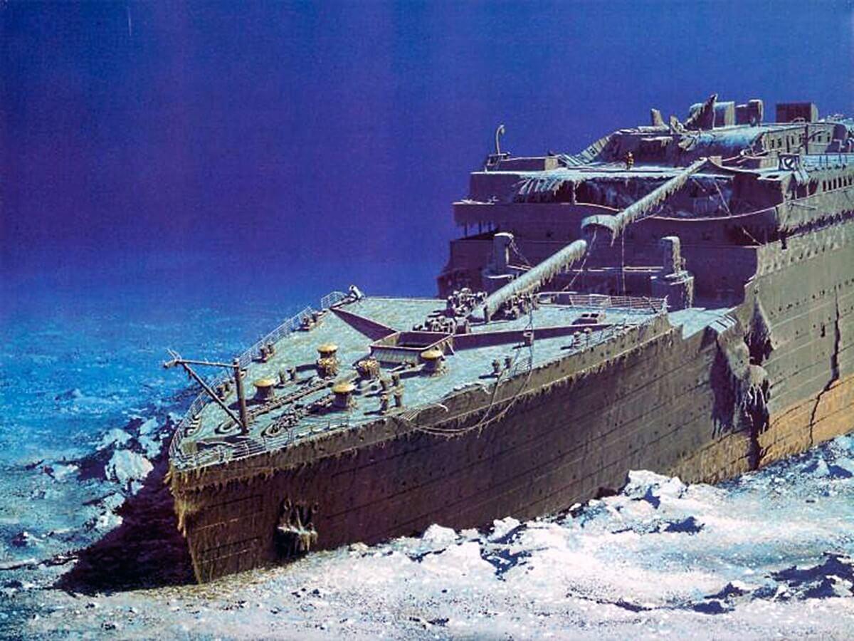популярен затонувший корабль титаник фото мебель стоит встраивать